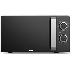 VON VAMS-20MGX Microwave Oven, Solo, 20L, Mechanical – Black Black 20L