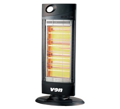 Von VSHK12QK Quartz Heater Tower 90 Degrees Oscillations black one size