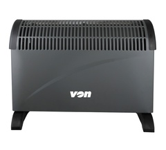 Von VSHK20NY Wall Mount Convection Heater black one size