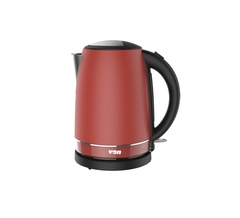 Von VSKL17PVR Premium 1.7L Cordless Kettle - 2000W Red