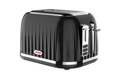 Von VSTP02CVK Premium 2 Slice Toaster black