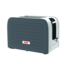 Von VSTP02PVX Premium 2 Slice Toaster Grey
