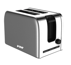 Von VSTP02MVX 2 Slice Toaster stainless steel