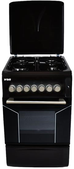 Von F5N40G2.BLK/VAC5F240RK 4 Gas Cooker - Black