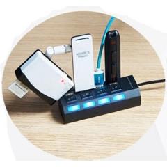 4 Ports High Speed USB Hub 480 Mbps USB 2.0 Hub On/Off Switch Hub USB Splitter For PC Computer Black 4 Port HUB USB 2.0
