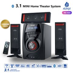 (Hot Sale!))Nunix A22 3.1ch Home Theater System Speakers Woofer Black 12000w a22