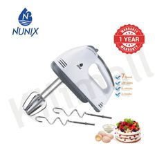 (New Arrival)Nunix 2L Hand Mixer Plus Stand  2.0L 120w As picture 120w