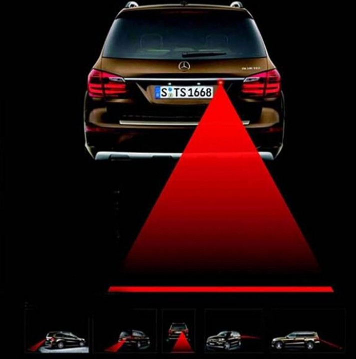 Car Laser Fog Light Rear Anti-Collision Driving Safety Signal Warning Lamp