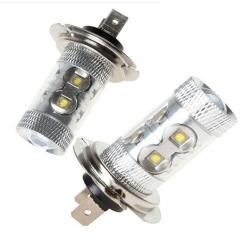 2x H7 50W White LED Car Fog Light /12V Fog Beam Lamp/Auto Head light