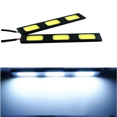 2X 3 LED COB 24W 12V Waterproof Daytime Running Light DRL Auto Car Driving Front Fog Lamp