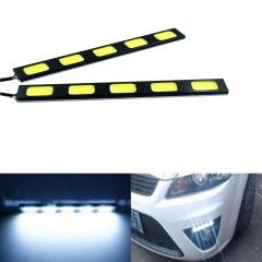 2X 5 LED COB 24W 12V Waterproof Daytime Running Light DRL Auto Car Driving Front Fog Lamp