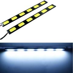 2X 6 LED COB 24W 12V Waterproof Daytime Running Light DRL Auto Car Driving Front Fog Lamp