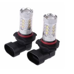 2X 9005 HB3 80W LED Projector  White Car Auto DRL Daytime Running Lights Headlight Fog Lamp Bulb