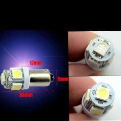 50X Car Marker Lamps T11 Ba9s T4w 5050 SMD 5 LED Auto Wedge Marker Light LED Bulb