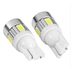 T10 W5W 194 5630 6SMD 6LED 6 Smd Led Wedge Auto Car Projector Lens Light Bulb Parking Light