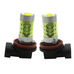 2X H11  80W White Led  Car Fog Light/Headlight Bulb/ DRL Driving Light