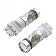 2x  Universal 12V T25 100W 20SMD White Car Brake Light Auto Stoplight
