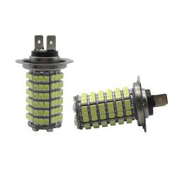 2X Universal H7 1210 120SMD White High Power LED Light Bulbs Car Fog Driving Light