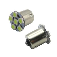 2X S25 5050 6SMD 1156 BA15S White Car LED Backup Signal Blinker Tail Light Bulb Brake  light
