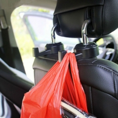 One Pair of Car Interior Seat Headrest Clothes Hanging Holder Adjustable Muti-Purpose Angle Hook