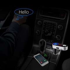 FM Transmitter Bluetooth Handsfree Car Kit MP3 Music Player Radio Adapter Dual USB Charging Ports