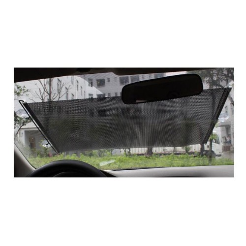 68 x 125cm Black Foldable Former Block Retractable Protector Car Auto Curtain Sun Shade Net