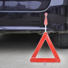 Automobile Triangle Warning Signs Car with Reflective Warning Frame Folded Car Warning Triangles