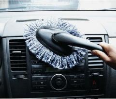 Multi-functional Car Mini Duster Long Hand Nanometter Cotton Wax Duster Car Wax Brush Dusting Tool