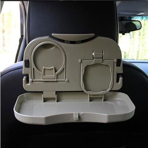 Fashion Army Green Car Table Stand Interior Organizer Muti-functional Folding Car Drinks Holders