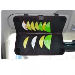 Portable Organizer Fashion Car Sun Visor Type Hanging Car Tissue Boxes CD Napkin Holder Storage Case