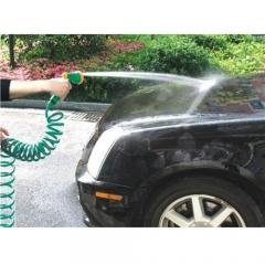 10m High Pressure Car Wash Gun Green/Blue Flexible Telescopic Spring Spray Gun Garden Water