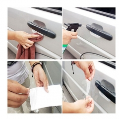 2x Car Sticker Invisible Car Door Handle Prevent Scratches Bilateral Senior Handle Protection Film