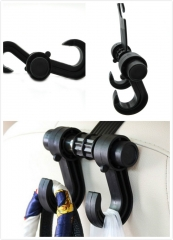 Car Seat Headrest Multi-Purpose Plastic Clips 360 Degree Rotatable Auto Multi-Function Car Hook