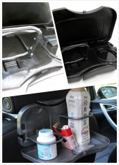 Folding Car Drinks Holders Car Back Seat Drinks Food Cup Tray Car Restaurant Table Car Accessories
