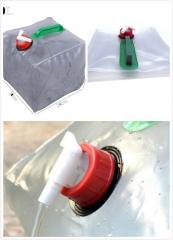 10L Vaccum Compressed Bag Folding Car Collapsible Water Storage Bag Transparent Fishing Barrel