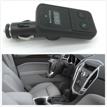Music Talking Bluetooth MP3 Car Handsfree Calling FM Transmitter Car Handsfree Kit