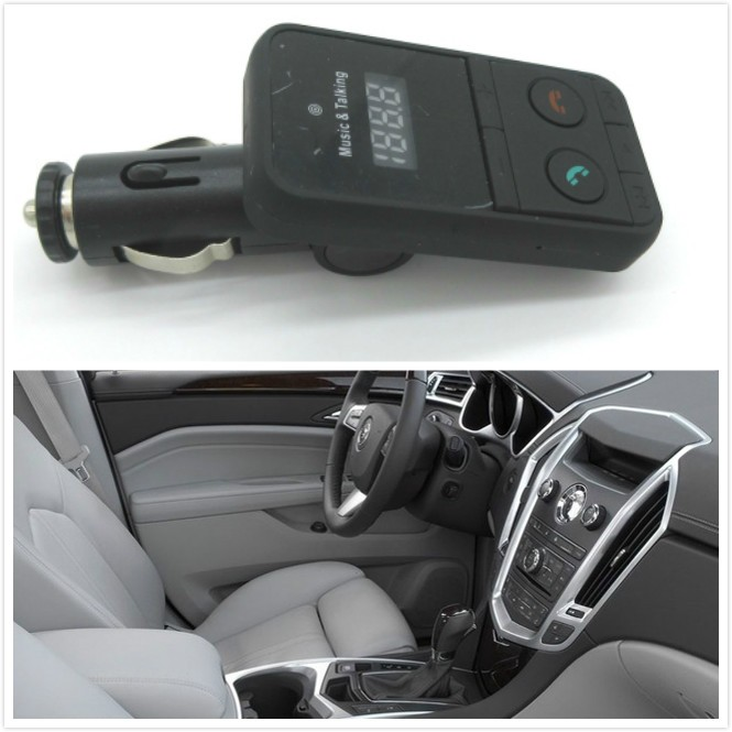 Music Talking Bluetooth MP3 Car Handsfree Calling FM Transmitter Car Handsfree Kit