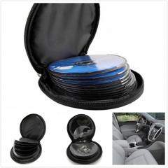 Car CD Disk Box Holder Storage Wallet Round Vehicle Auto CD Holder Bag Cover for Car Home
