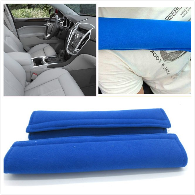 2X Car Safety Seat Belt Padding for Children Kid Baby Protection Soft Shoulder Pillow Headrest
