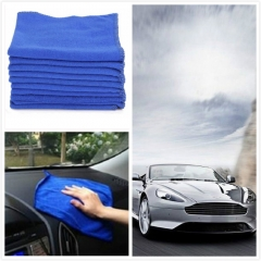 5pcs 30*60 Blue Brushed Absorbent Microfiber Thick Towels Car Wash Cleaning Polish Cloth