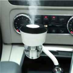 2 in 1 Dual USB Car Air Freshener Humidifier Aromatherapy Essential Oil Diffuser