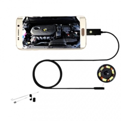8mm 6 Led Android Phone Endoscope Inspection Borescope HD LED Camera video 1M