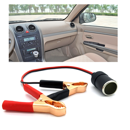 Universal Car Styling Cigaretter Lighter with Clip Auto Alligator Clip Connector