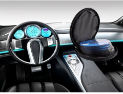 New Round Vehicle Auto Car CD Holder Bag Cover CD Disk Box Holder Storage Wallet for Car Home