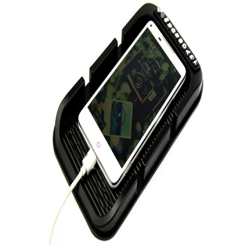 Universal Automobile Double Card Multifunctional Anti-skid Pad Vehicle Mobile Phone Rack Navigation