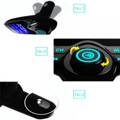 Wireless Bluetooth FM Transmitter Car Kit Radio Receiver 1.3 Inch Display USB Car Charger MP3 Player