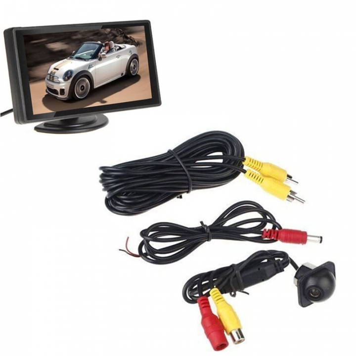 4.3 Inch Auto Backup Monitor With Mini 170 Degree Car Rear view Camera Parking Kit