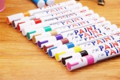 1PC Pink Color Universal Waterproof Permanent Paint Marker Pen Car Tire Tire Tread Rubber Metal