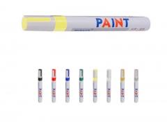 1PC Yellow Color Universal Waterproof Permanent Paint Marker Pen Car Tire Tire Tread Rubber Metal