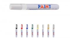 1PC White Color Universal Waterproof Permanent Paint Marker Pen Car Tire Tire Tread Rubber Metal